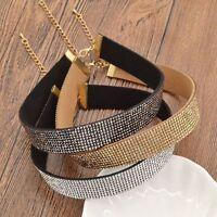 Fashion charm Jewelry Full Crystal Pendant Chain Bib Chocker Necklace Wedding