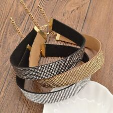 Fashion charm Jewelry Full Crystal Pendant Chain Bib Chocker Necklace Wedding