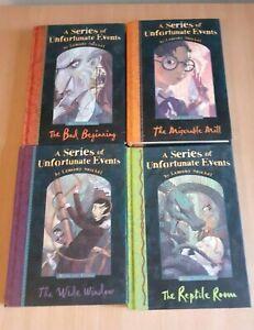 A Series of Unfortunate Events Hardback Books 1-4 Lemony Snicket