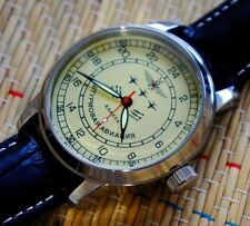 "Russian Military Mechanical   Wrist Watch POLJOT on the dial ""Attack Aviation"""