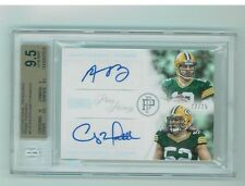 2013 NT Prime Pairings Aaron Rodgers Clay Matthews AUTO PACKERS 22/25 BGS 9.5/10