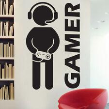 Gamer Wall Stickers Video Game Art Vinyl Decal Boys Home Room Decor Waterproof