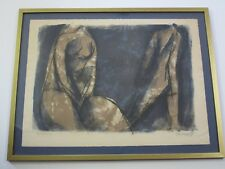 GEORGI DASKALOFF LITHOGRAPH ABSTRACT EXPRESSIONISM MID CENTURY CUBISM FIGURES