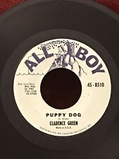 "Clarence Green, ""Puppy Dog""/""Red Light"" R&B Rocker Dance Garage 45 On All Boy"