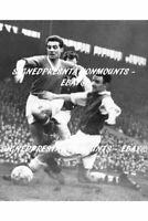 """David Pegg BUSBY BABES VERY RARE 1957 MANCHESTER UNITED 12 X8""""  PRINT COA"""