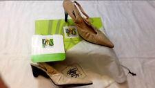 CamiLeon Heels sandalo Alessia - 100% Pelle 40 Sabbia - Tacco 9 e 4 - Nuovi