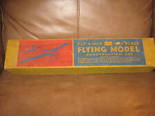 Fly-A-Way 30 inch wing span wooden model in box! 1940's LOOK!