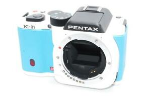 INEXPENSIVE!! PENTAX  K-01 BODY  WHITE  and BLUE