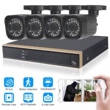 4CH 720P CCTV DVR FULL HD 1080N Outdoor Night Vision Home Security Camera System