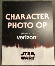 Star Wars The Last Jedi World Premiere Character Photo Op Sign December 9,2017