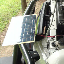 5.5W Solar Panel with Battery Clip for 12V Car Camping Boat Battery Charger Pro