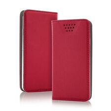 Smart Magnetico Custodia rosso per Vodafone Smart n8 Custodia Guscio Astuccio