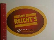Aufkleber/Sticker: Bund der Steuerzahler mir reichts (201216128)