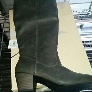 NEW! Mossimo Esmeralda Western Cowboy Tall Boots - Brown or Charcoal/Dark Gray