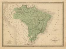 Carte de Brésil. Brazil including occupied Paraguay. MALTE-BRUN c1871 old map