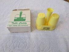 VINTAGE TABLE CADDY - SALT & PEPPER & TOOTHPICK HOLDER- OLD DINER LOOK - PLASTIC