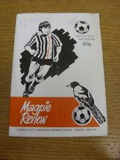 16/10/1984 Chorley v Macclesfield Town  (folded, creased, pen marks, explicit wo