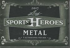 2017 Leaf Metal Sports Heroes SEALED HOBBY BOX (5 Autos/Autographs)