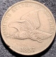 1857 Flying Eagle Cent, Stunning Condition
