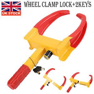 1PCS Wheel Clamp Lock For Cars Trailer Caravan Security Anti Theft Locking UK
