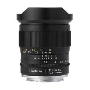 TTArtisans Fisheye11mm F2.8 Full Fame Lens Canon EOS R R5 R6 mount camera