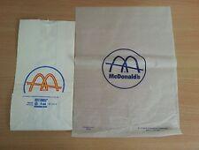 Vintage1960s McDonald's Bag and Wax Paper Burger Hamburger Wrapper