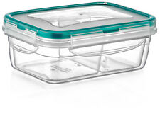 PlastArt200 Rectangle Set,Multi Piece Food Storage Container 2 Divided Removable