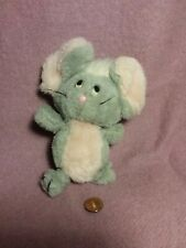 """New listing 6"""" vintage Here Comes Grandma! 1982 Gray Pink Mouse plush stuffed toy"""