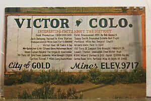 Colorado CO Victor City of Gold Postcard Old Vintage Card View Standard Souvenir