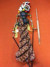 Vintage Wayang Doll Indonesian Wood Puppet Golek Asian Javanese Painted Oriental