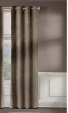 Veratex Contemporary Style 100% Cotton Velveteen - Pebble Single Panel Curtains