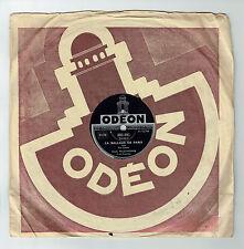 78T Emile PRUD'HOMME Disque Phonographe LA BALLADE DE PARIS - ODEON 282991 RARE