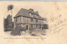 ROUEN 87 maison de Pierre Corneille à Petit Couronne timbre noir 1 1901