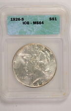Silver ICG Certified Peace Dollars (1921-1935)
