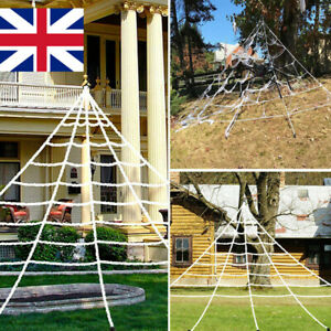Halloween Giant Spider Web Party Props Haunted House Decor Outdoor Fancy Dress