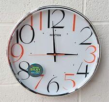 Rhythm horloge mural rond avec un large coloré chiffres 32cm silencieux