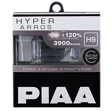 PIAA Hyper Arros H9 Voiture Remplacement Phares Ampoules +120% (Twin Pack) HE905