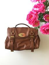 "Mulberry Authentic Oak Natural Leather Discontinued ""Alexa"" Satchel Handbag"