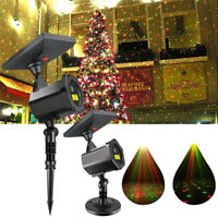 Christmas Outdoor Solar LED Projector Laser Light Xmas RGB Moving Star Lawn Lamp