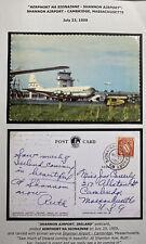 1959 Shannon Airport Ireland Picture Postcard Cover To Cambridge MA USA