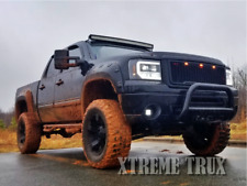 Textured Black 07-13 GMC Sierra 1500 Boss Pocket Fender Flares Short Bed 5.8'