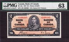 Canada 2 Dollars 1937 BC-22c Coyne/Towers L/R 1490305 Pick-59c CH UNC PMG 63