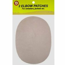 Two Faux-Suede Iron-On Elbow Patches 4.5  x 5.5 in - Eggshell