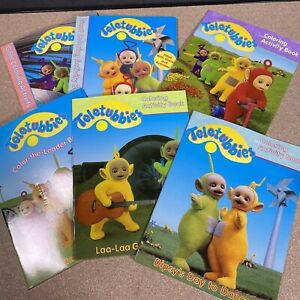 Teletubbies Color The Leader Activity Book Lot 1998 6 Books