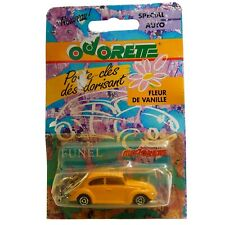 VW Beetle Kafer 1302 203 Yellow Majorette Odorette Keychain with Car Perfume
