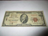 $10 1929 Cedar Falls Iowa IA National Currency Bank Note Bill Ch. #3871 Fine