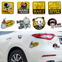 7PCS Baby on Board Car Sticker Reflective Magnetic Decal Safety Caution Sign US