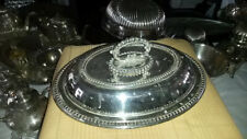 silver plated 12 in lid with removalble handle 12inx8inx4.5in tall oval lid