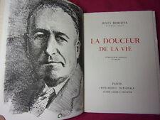 LA DOUCEUR DE LA VIE  Jules Romains  Lithographie originale de Heuzé