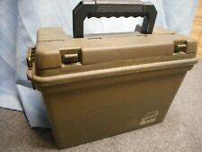 AMMO BOX CASE CAN FIELD STORAGE GREEN PLANO #1612 Made USA